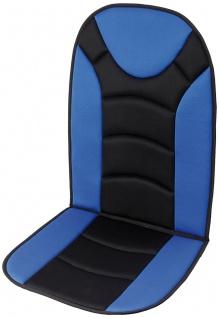 Unitec Sitzaufleger Trend schwarz/blau
