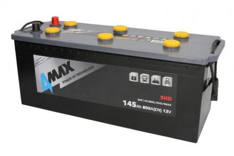 Starterbatterie 4MAX Heavy Duty SHD LKW Batterie 12V 145Ah 800A