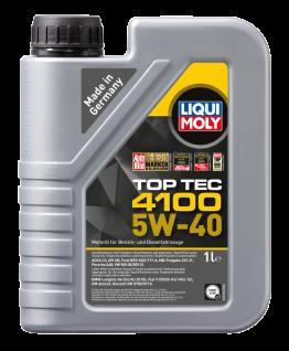 5W-40 Liqui Moly 3700 Top Tec 4100 Motoröl 1 Liter
