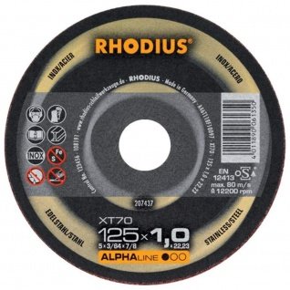 Rhodius Alpha Box XT70 Trennscheibe Metall Inox 125 mm/1 mm 10er