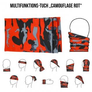 Multifunktionstuch Mund Nasen Schutz Schlauch Maske Camouflage Rot