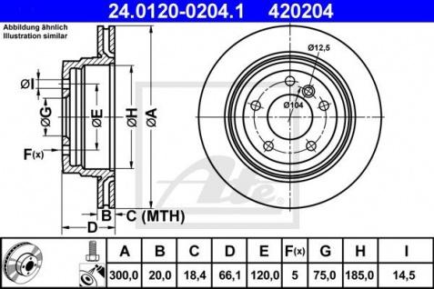 Bremsscheiben Set ATE 24.0120-0204.1