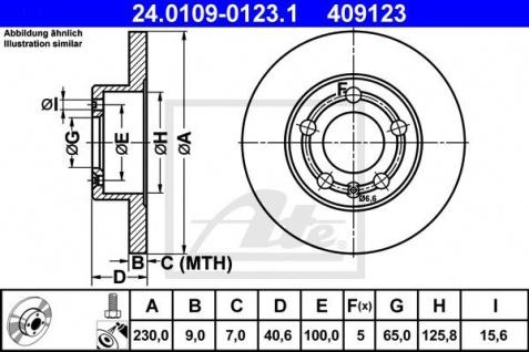 Bremsscheiben Set ATE 24.0109-0123.1