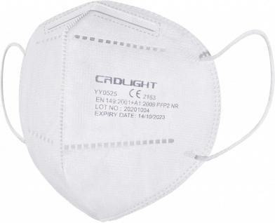 Crdlight FFP2 Maske Gesichtsmaske Mund Nasen Schutz einzeln verpackt