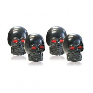 Ventilkappen Skull Schwarz