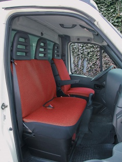 Walser Sitzbezug Set Transporter Universal Como rot