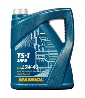 15W-40 Mannol TS-1 SHPD Motoröl 5 Liter