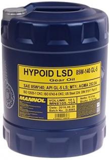 85W-140 Mannol Hypoid LSD GL-5 LS Getriebeöl 10 Liter