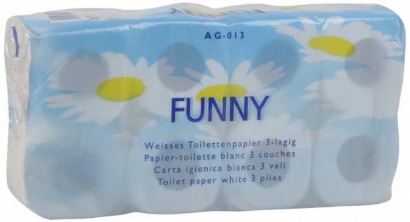 Funny Toilettenpapier 3-lagig hochweiß 8 Rollen