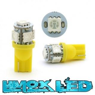 Limox LED Glassockel W5W T10 5x 5050 SMD Gelb
