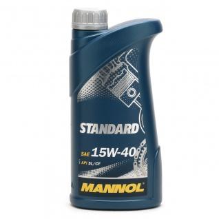 15W-40 Mannol Standard Motoröl 1 Liter