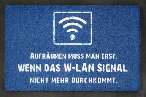 Fussmatte WLAN Signal 40x60 cm rutschfest