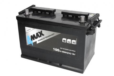 Starterbatterie 4MAX Autobatterie Japan 12V 100Ah 800A