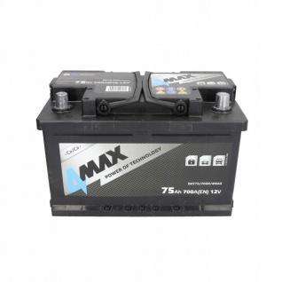 Starterbatterie 4MAX Autobatterie 12V 75Ah 700A