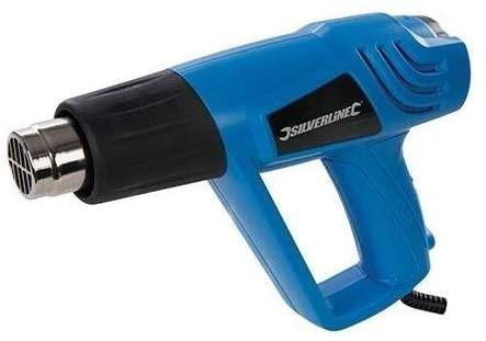Silverline Heißluftpistole mit Temperaturregler 2000 Watt
