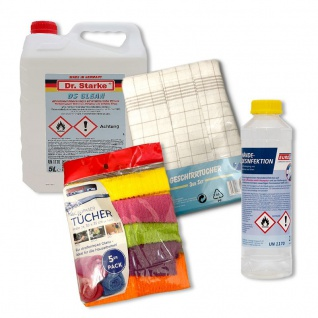 Desinfektionspaket Super DEAL Hände Flächedesinfektion Microfaser + Geschirrt...
