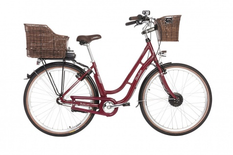 Fischer E-bike City Er 1804 Bordeaux - Vorschau 1
