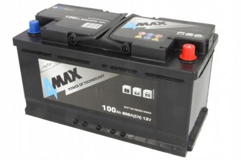 Starterbatterie 4MAX Autobatterie 12V 100Ah 800A