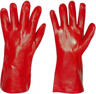 Stronghand Vinyl Handschuh Denver Rot 35 cm