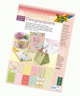 Folia Paper Designpapiere Frühjahr Ostern 12 Blatt DIN A4
