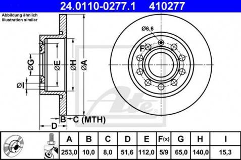 Bremsscheiben Set ATE 24.0110-0277.1