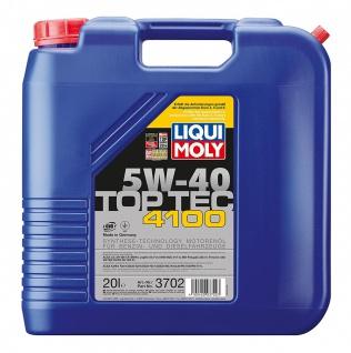 5W-40 Liqui Moly Top Tec 4100 Motoröl 20 Liter