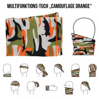 Multifunktionstuch Mund Nasen Schutz Schlauch Maske Camouflage Orange