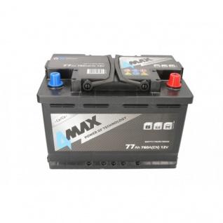 Starterbatterie 4MAX Autobatterie 12V 77Ah 760A