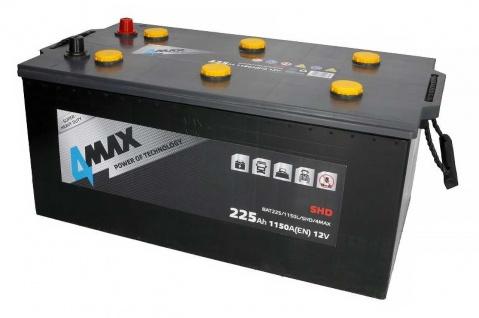 Starterbatterie 4MAX Heavy Duty SHD LKW Batterie 12V 225Ah 1150A