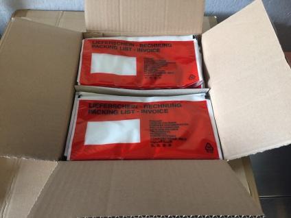 Lieferscheintaschen rot 240 x 130 mm 1000 Stk Karton