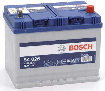 Starterbatterie Bosch S4 026 Autobatterie 12V 70Ah 630A