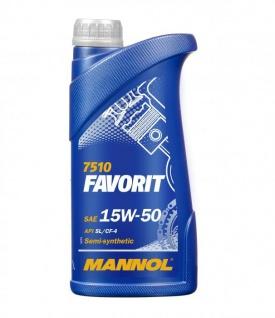 15W-50 Mannol Favorit Motoröl 1 Liter