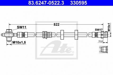 Bremsschlauch ATE 83.6247-0522.3