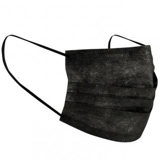 Gesichtsmaske Mund Nasen Schutz SCHWARZ Face Mask 3-lagig 5er Pack