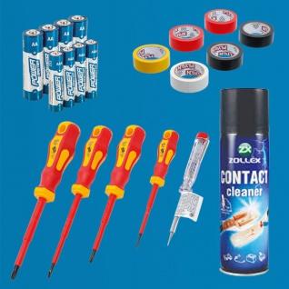 BGS VDE Elektriker Super DEAL Schraubendreher Isolierband Kontaktreiniger Bat...