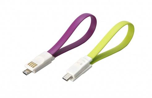 Unitec Ladekabel Datenkabel USB auf Micro USB schwarz