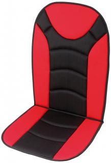 Unitec Sitzaufleger Trend schwarz/rot
