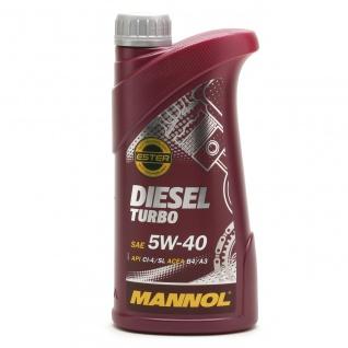 5W-40 Mannol Diesel Turbo Motoröl 1 Liter
