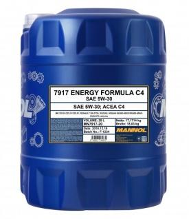5W-30 Mannol Energy Formula C4 Motoröl 20 Liter