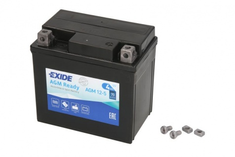 Exide YTX5L-BS Starterbatterie AGM 12V 4Ah 70A Mopedbatterie