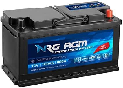 Starterbatterie ENRG Start-Stop AGM Autobatterie 12V 105Ah 910A