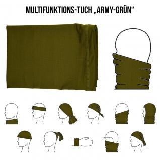 Multifunktionstuch Mund Nasen Schutz Schlauch Maske Army Grün