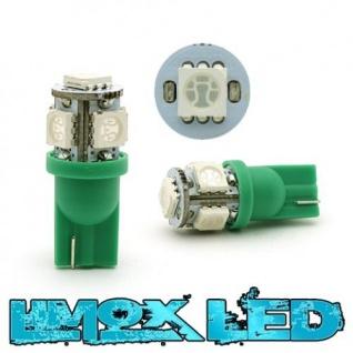 Limox LED Glassockel W5W T10 5x 5050 SMD Grün
