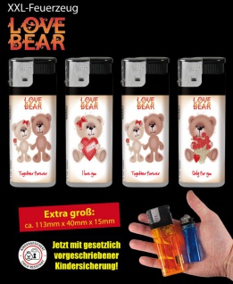 XXL Feuerzeug Love Bear