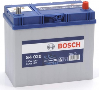 Starterbatterie Bosch S4 020 Autobatterie Japan 12V 45Ah 330A