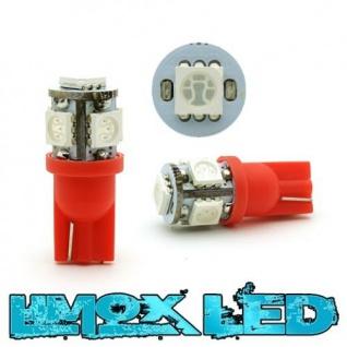 Limox LED Glassockel W5W T10 5x 5050 SMD Rot