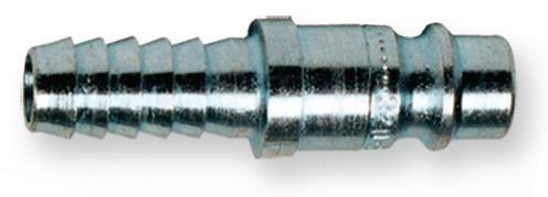 Berner Stecknippel 6mm Druckluft DN7, 8 Stahl verzinkt mit Schlauchanschluss