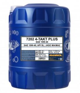 10W-40 Mannol 4-Takt Plus 20 Liter