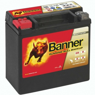 Banner AUX14 Starterbatterie AGM 12V 12Ah 200A Backup Batterie