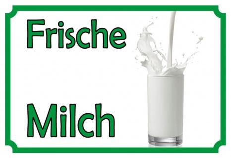 Frische Milch Nostalgieschild